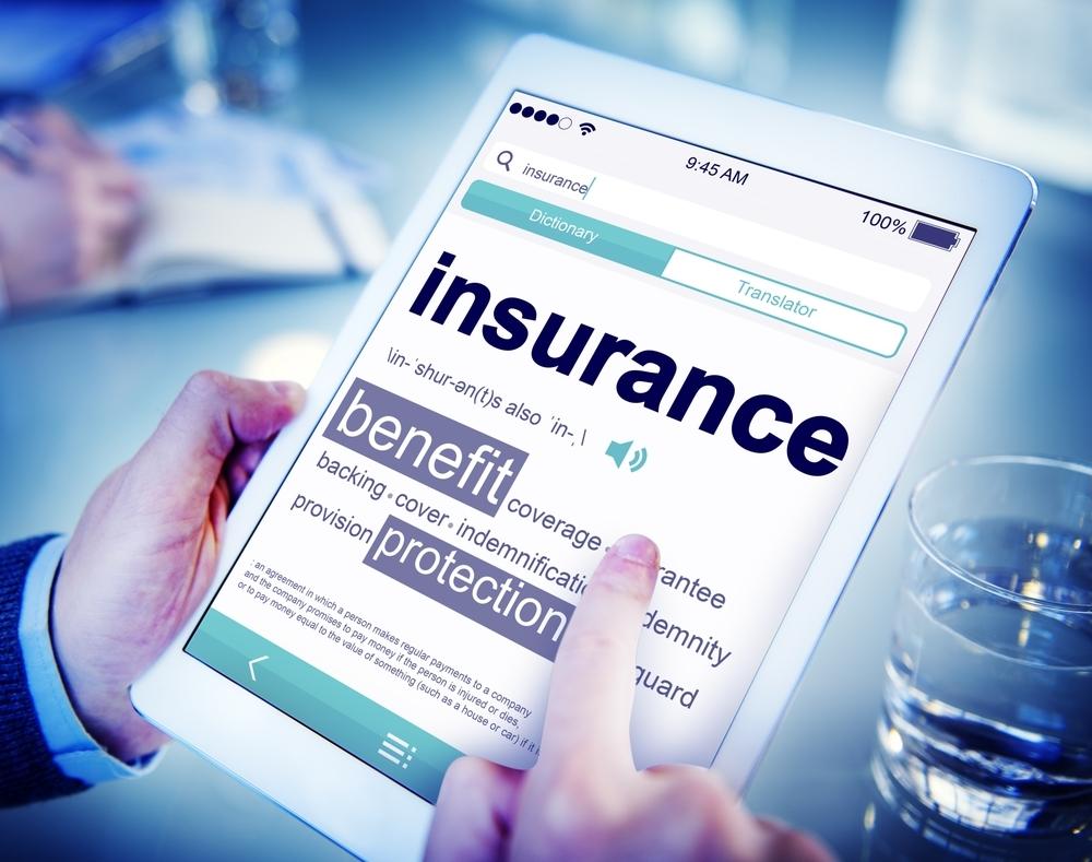 insurance page on ipad