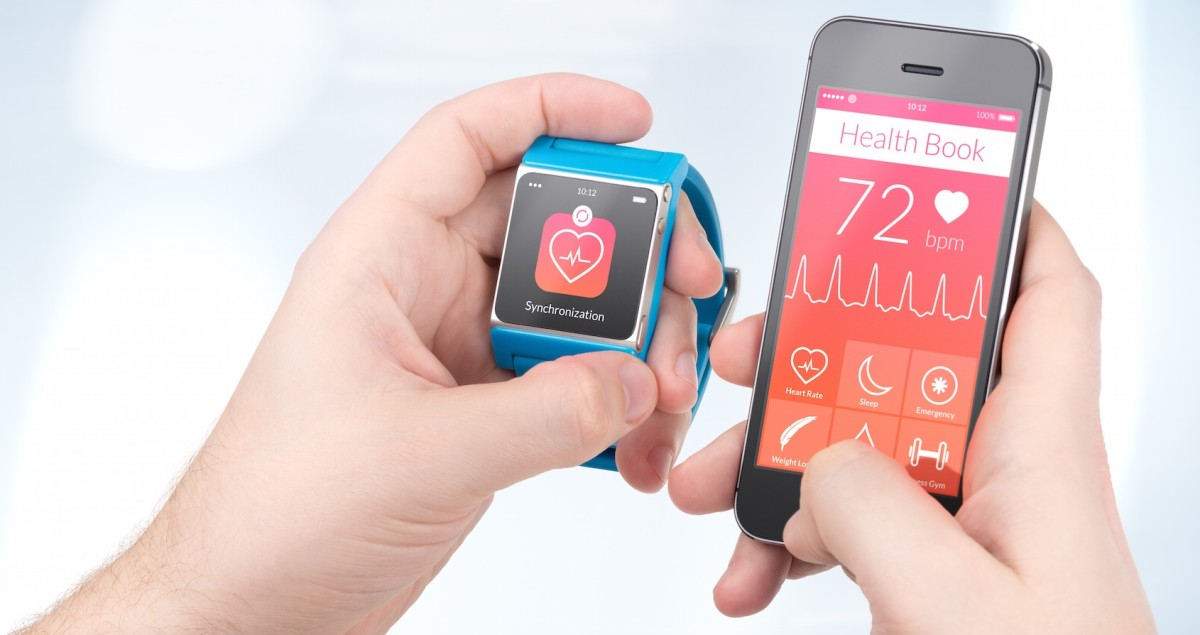 wearable device and iphone on health app