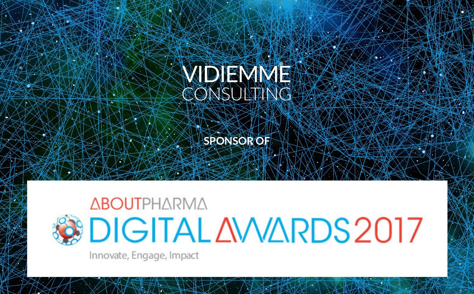 Vidiemme sponsor degli AboutPharma Digital Awards 2017