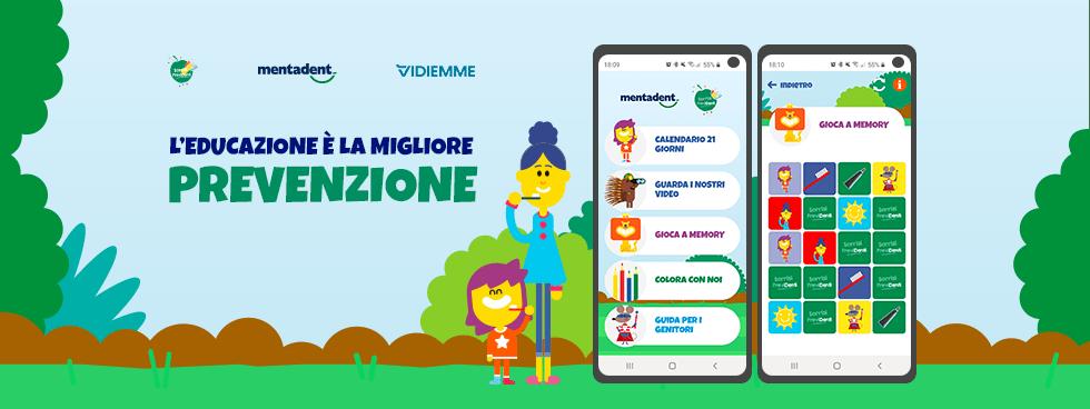 Vidiemme con Mentadent per il lancio dell'app mobile Sorrisi Previdenti