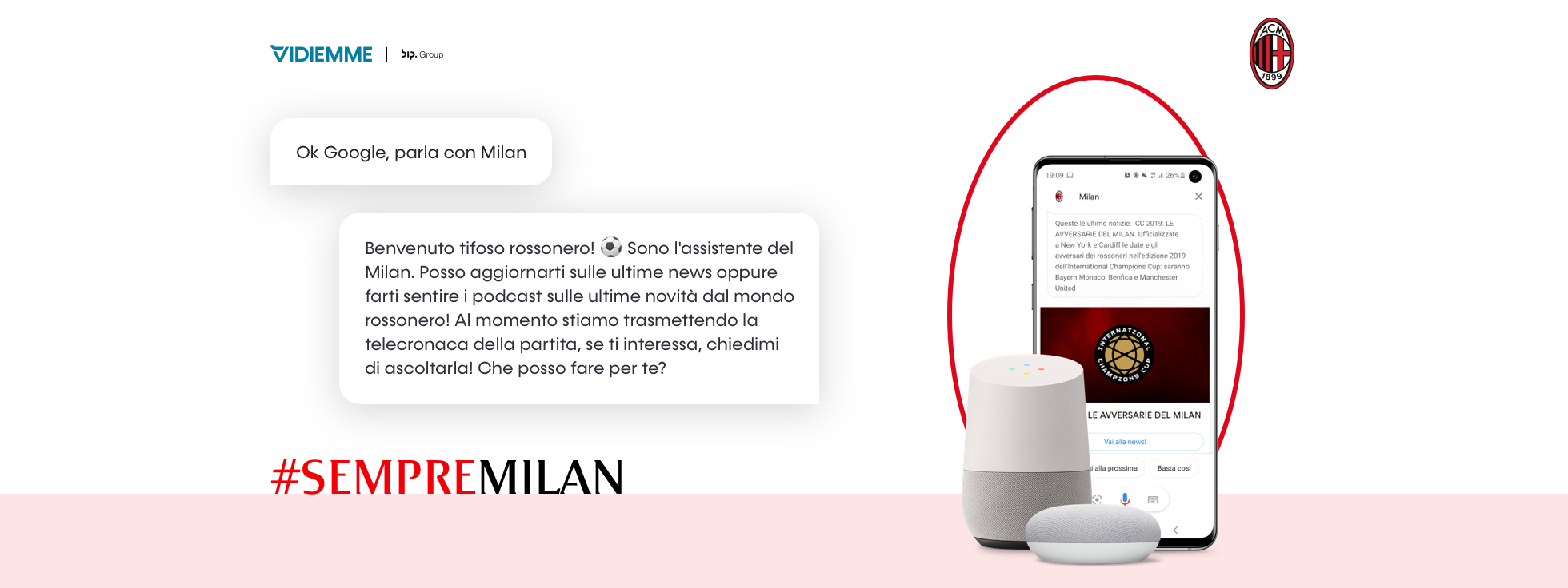 E' arrivata la Action on Google di AC Milan realizzata da Vidiemme